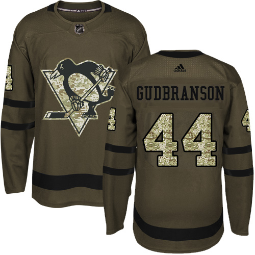 Adidas Penguins #44 Erik Gudbranson Green Salute To Service Stitched NHL Jersey