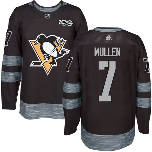 Adidas Penguins #7 Joe Mullen Black 1917-2017 100th Anniversary Stitched NHL Jersey