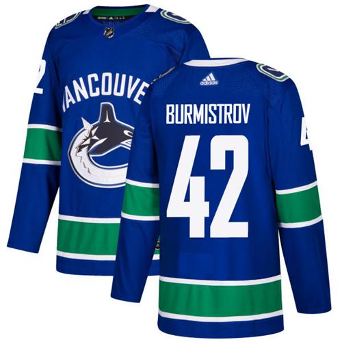 Adidas Canucks #42 Alex Burmistrov Blue Home Authentic Stitched NHL Jersey