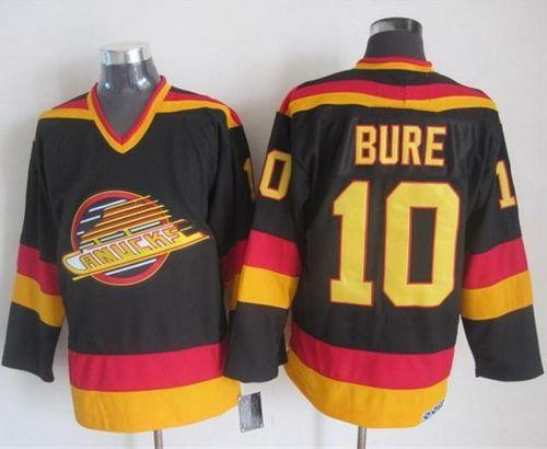 Canucks #10 Pavel Bure Black/Gold CCM Throwback Stitched NHL Jersey