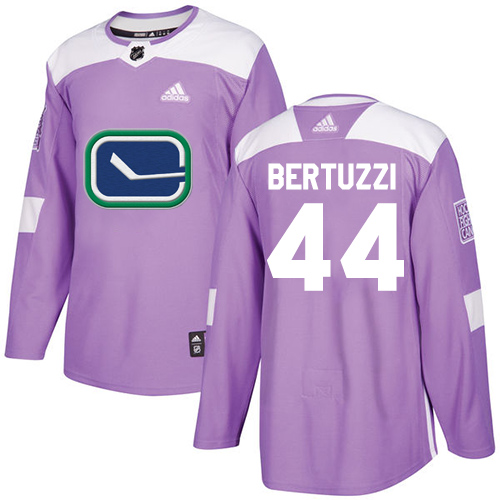 Adidas Canucks #44 Todd Bertuzzi Purple Authentic Fights Cancer Stitched NHL Jersey