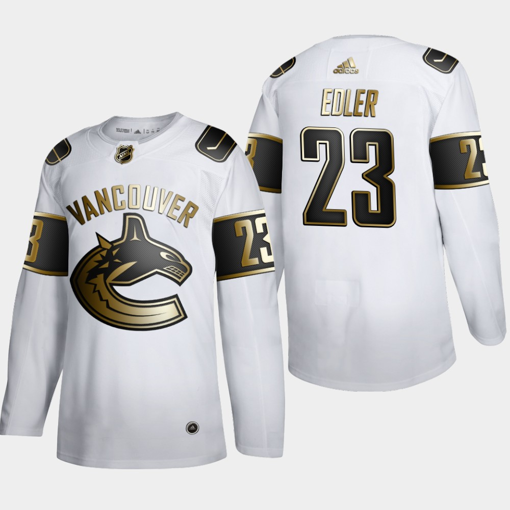 Vancouver Canucks #23 Alexander Edler Men's Adidas White Golden Edition Limited Stitched NHL Jersey