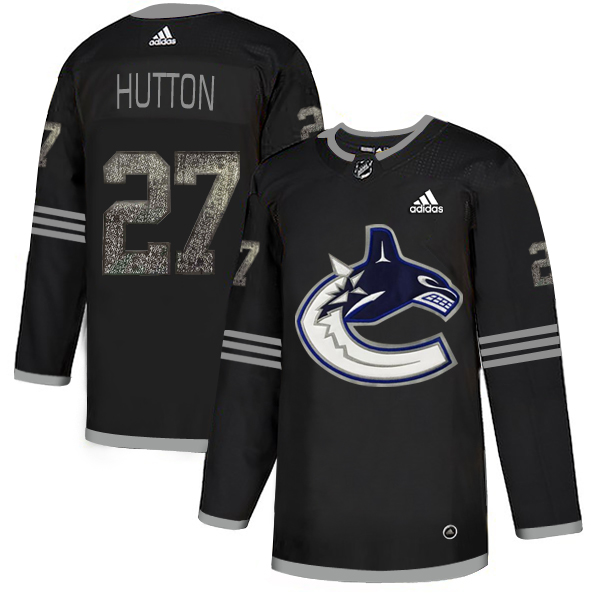 Adidas Canucks #27 Ben Hutton Black Authentic Classic Stitched NHL Jersey