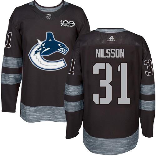 Adidas Canucks #31 Anders Nilsson Black 1917-2017 100th Anniversary Stitched NHL Jersey