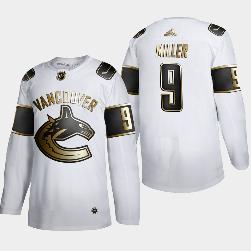 Vancouver Canucks #9 JT Miller Men's Adidas White Golden Edition Limited Stitched NHL Jersey