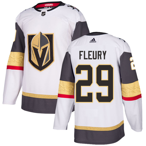 Adidas Golden Knights #29 Marc-Andre Fleury White Road Authentic Stitched NHL Jersey