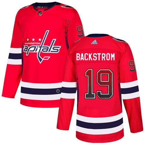 Adidas Capitals #19 Nicklas Backstrom Red Home Authentic Drift Fashion Stitched NHL Jersey