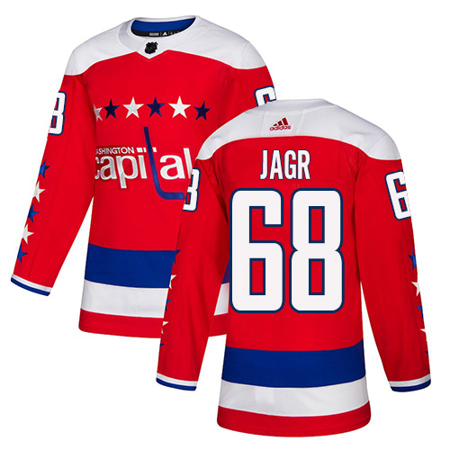 Adidas Capitals #68 Jaromir Jagr Red Alternate Authentic Stitched NHL Jersey