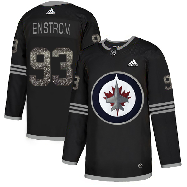 Adidas Jets #93 Toby Enstrom Black Authentic Classic Stitched NHL Jersey