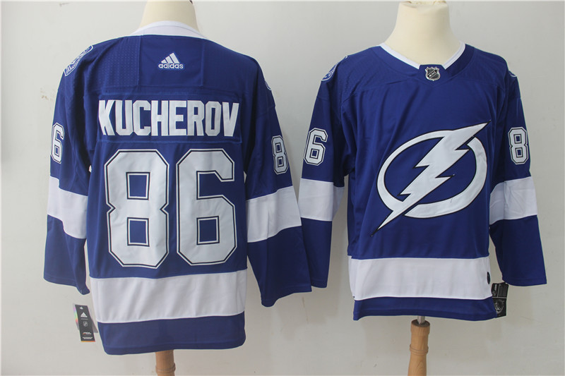 Men's Adidas Tampa Bay Lightning #86 Nikita Kucherov Blue Stitched NHL Jersey
