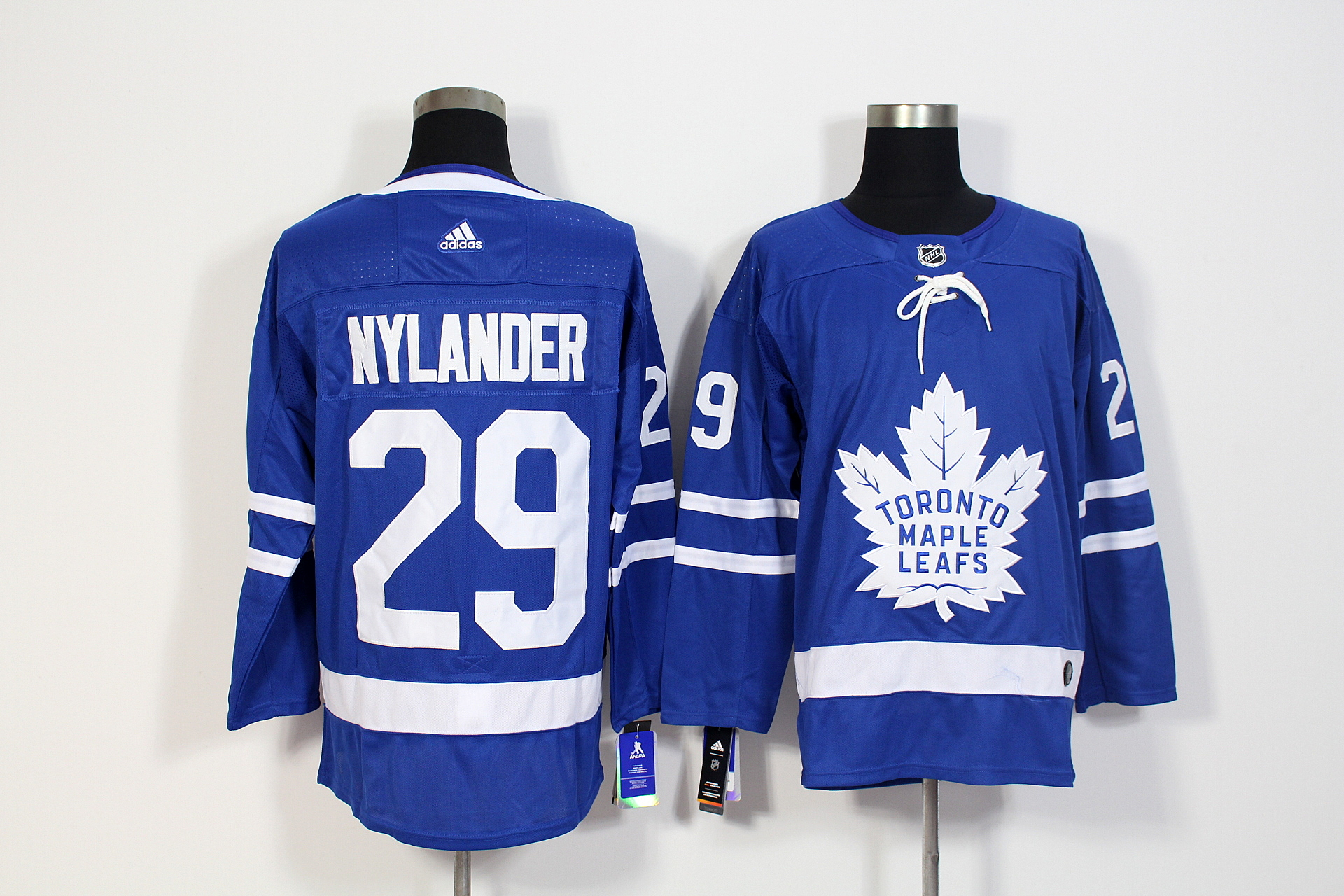 Men's Adidas Toronto Maple Leafs #29 William Nylander Blue Stitched NHL Jersey