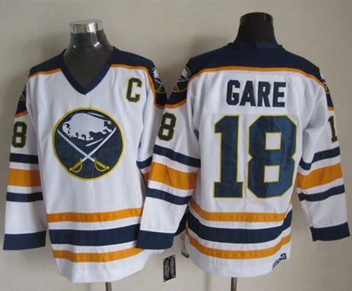 Sabres #18 Danny Gare White CCM Throwback Stitched NHL Jersey