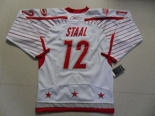 Hurricanes #12 Eric Staal 2011 All Star Stitched White NHL Jersey