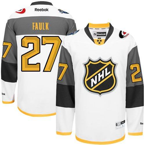 Hurricanes #27 Justin Faulk White 2016 All Star Stitched NHL Jersey