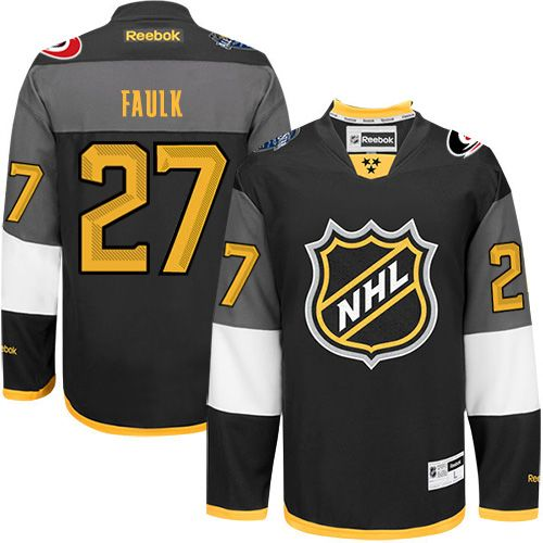 Hurricanes #27 Justin Faulk Black 2016 All Star Stitched NHL Jersey