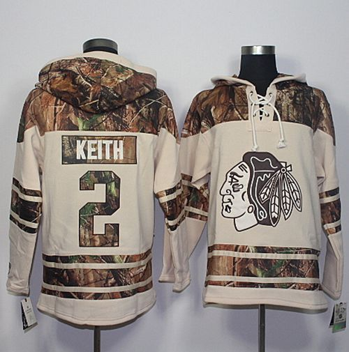 Blackhawks #2 Duncan Keith Cream/Camo Stitched NHL Jersey