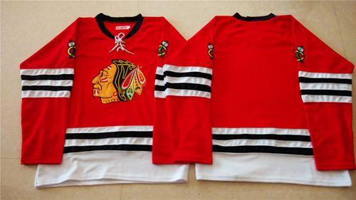 Mitchell And Ness 1960-61 Blackhawks Blank Red Stitched NHL Jersey