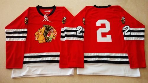 Mitchell And Ness 1960-61 Blackhawks #2 Duncan Keith Red Stitched NHL Jersey