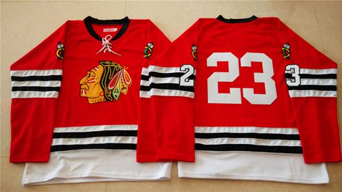 Mitchell And Ness 1960-61 Blackhawks #23 Kris Versteeg Red Stitched NHL Jersey
