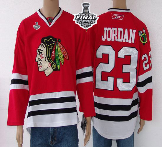 Blackhawks #23 Jordan Red 2015 Stanley Cup Stitched NHL Jersey
