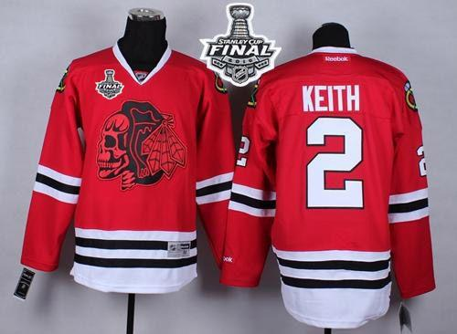 Blackhawks #2 Duncan Keith Red(Red Skull) 2015 Stanley Cup Stitched NHL Jersey