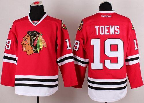 Blackhawks #19 Jonathan Toews Stitched Red NHL Jersey