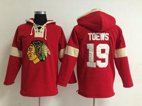 Chicago Blackhawks #19 Jonathan Toews Red Pullover NHL Hoodie