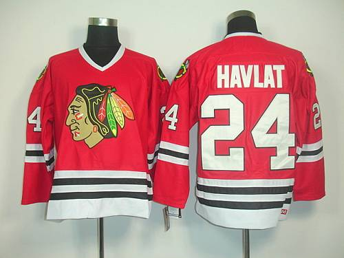 Blackhawks #24 Martin Havlat Red CCM Throwback Stitched NHL Jersey