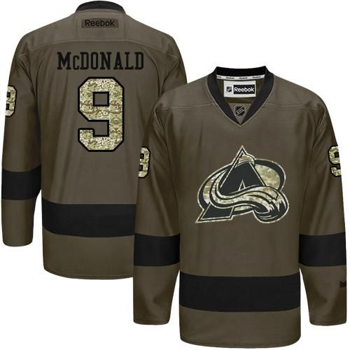Avalanche #9 Lanny McDonald Green Salute to Service Stitched NHL Jersey