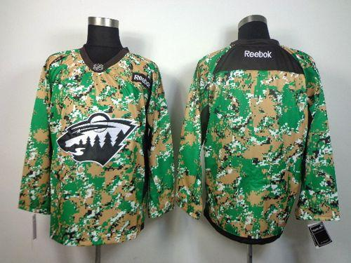 Wild Blank Camo Veterans Day Practice Stitched NHL Jersey