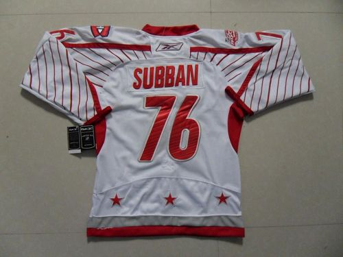 Canadiens #76 PK Subban 2011 All Star Stitched White NHL Jersey