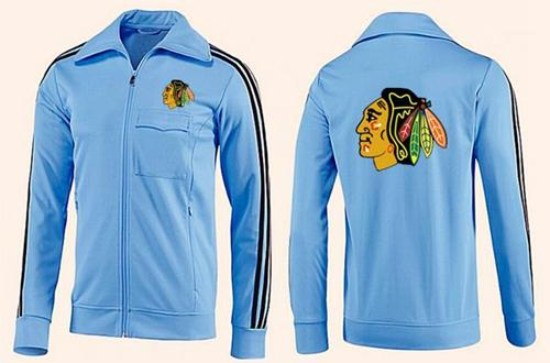 NHL Chicago Blackhawks Zip Jackets Light Blue