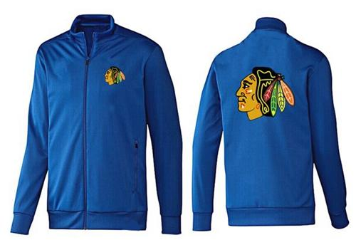 NHL Chicago Blackhawks Zip Jackets Blue-1