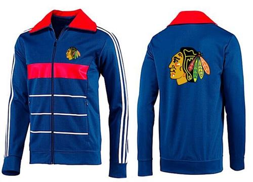NHL Chicago Blackhawks Zip Jackets Blue-3