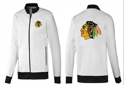 NHL Chicago Blackhawks Zip Jackets White-1