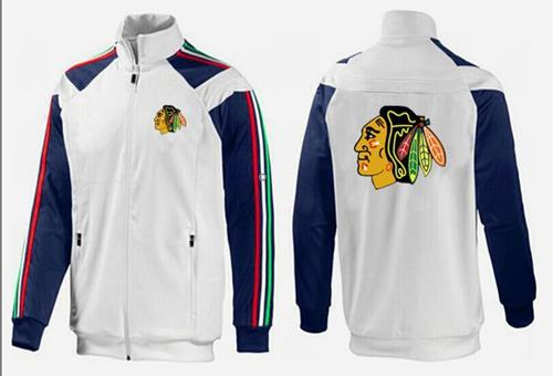 NHL Chicago Blackhawks Zip Jackets White-2