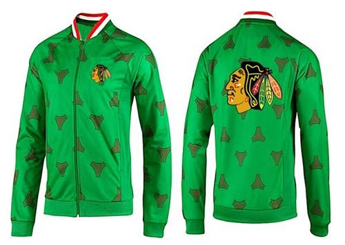 NHL Chicago Blackhawks Zip Jackets Green-2