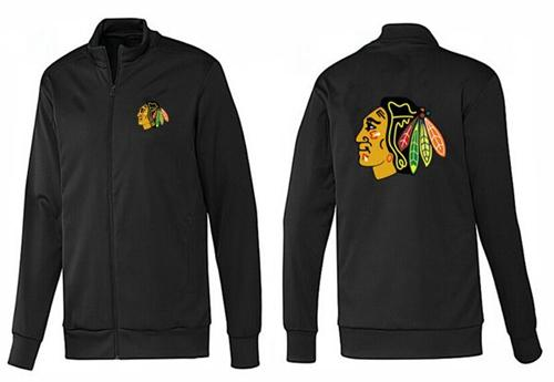 NHL Chicago Blackhawks Zip Jackets Black-1