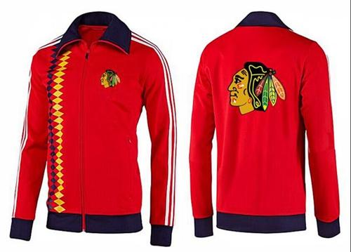 NHL Chicago Blackhawks Zip Jackets Orange-2