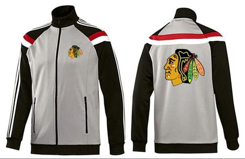 NHL Chicago Blackhawks Zip Jackets Grey