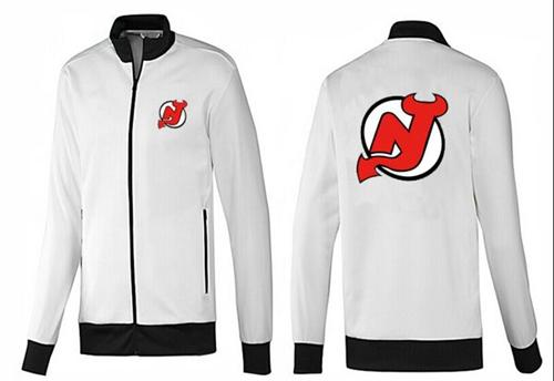 NHL New Jersey Devils Zip Jackets White-1
