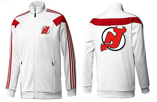 NHL New Jersey Devils Zip Jackets White-2