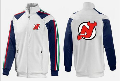 NHL New Jersey Devils Zip Jackets White-3