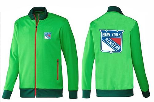 NHL New York Rangers Zip Jackets Green