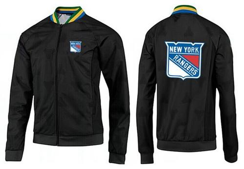 NHL New York Rangers Zip Jackets Black-2