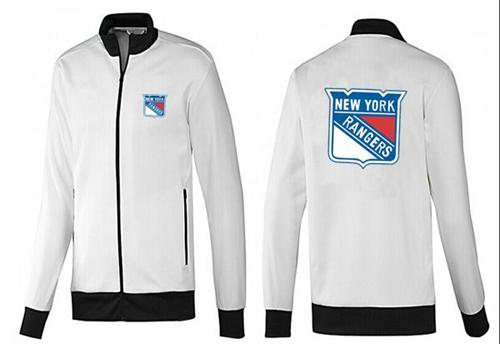 NHL New York Rangers Zip Jackets White-1