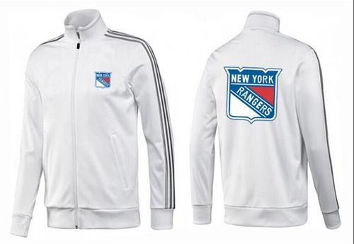 NHL New York Rangers Zip Jackets White-2