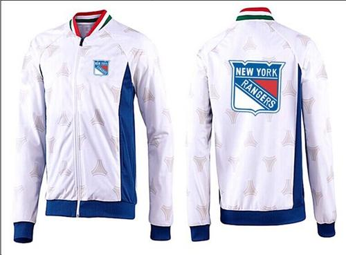 NHL New York Rangers Zip Jackets White-3