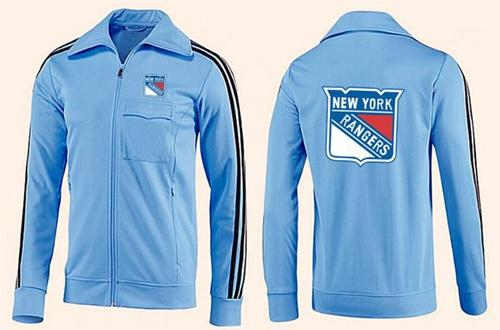 NHL New York Rangers Zip Jackets Light Blue