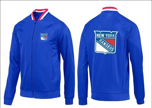 NHL New York Rangers Zip Jackets Blue-1